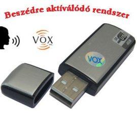 USB hangrögzítő, diktafon (Hangra aktiválódó)
