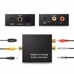 Digitális analóg audio jel átalakitó konverter adapter +3,5 Jack kimenet
